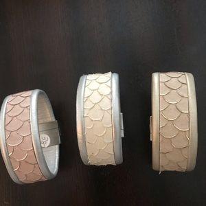 3 Fun summer leather bracelets